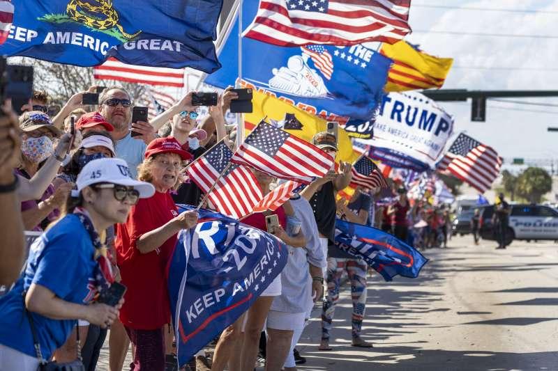 美國前總統川普仍然頗受歡迎,約54%共和黨員支持他再戰2024。(AP)