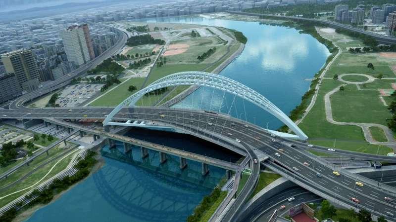 中正橋改建工程完工模擬圖。(圖/新北市工務局提供)