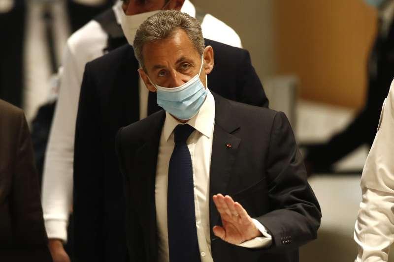 2021年3月1日,法國前總統薩柯齊因行賄法官遭判刑3年,全案仍將上訴。(AP)
