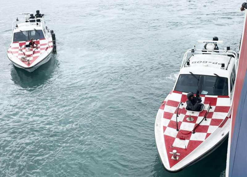 20210302-海巡特勤隊訓練畫面。(海巡署提供)