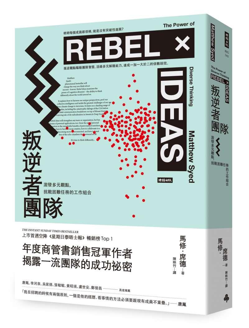 《叛逆者團隊:激發多元觀點,挑戰困難任務的工作組合》書封。(時報出版提供)