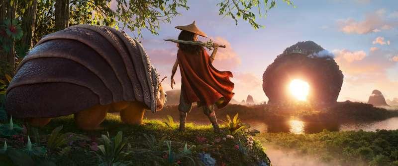 迪士尼最新動畫電影《尋龍使者:拉雅》(Raya and the Last Dragon)。(美聯社)