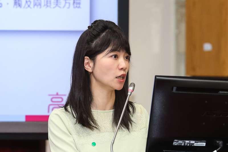 20210311-民進黨立委高嘉瑜11日於財政委員會質詢。(顏麟宇攝)