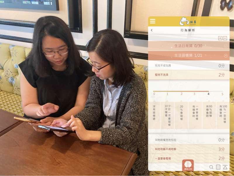 跳養APP透過AI評測系統幫助爸媽找出教養癥結,讓教養更有效率。(圖片來源:笛飛兒)