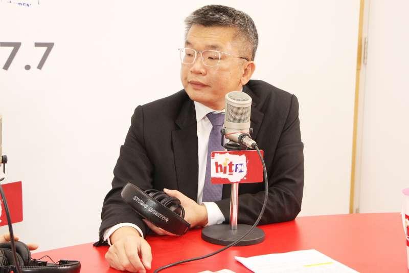 立法院副院長蔡其昌接受資深媒體人周玉蔻專訪。(Hit Fm《周玉蔻嗆新聞》製作單位提供)
