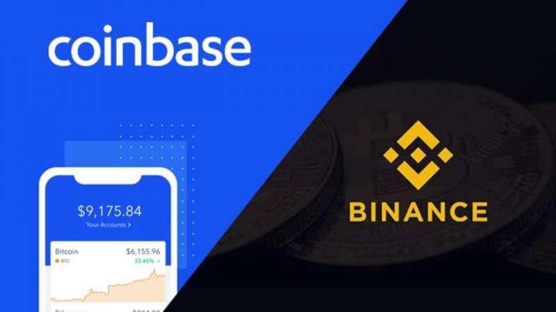 美國Coinbase交易所 vs. 幣安交易所(圖片來源:李可人)