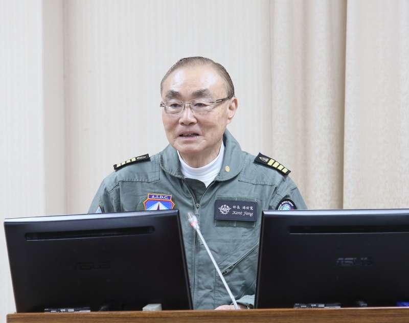 20210322-退輔會主委馮世寬22日著飛行裝至立院備詢。(柯承惠攝)