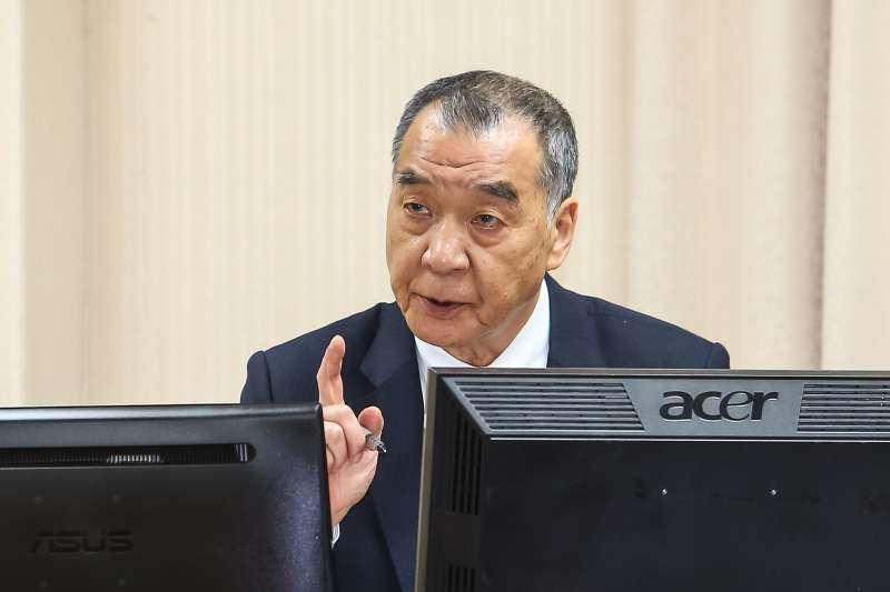 20210325-國防委員會邱國正25日於外交國防委員會備詢。(顏麟宇攝)
