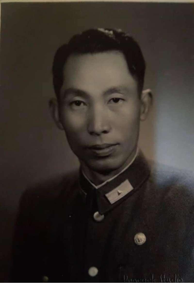 第七軍第171師師長劉昉將軍英姿。(蔡榮根提供)