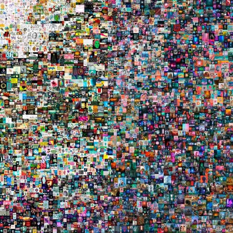 佳士得首拍Beeple NFT作品,〈Everydays-The First 5000 Days〉(圖/擷取自非池中藝術網)