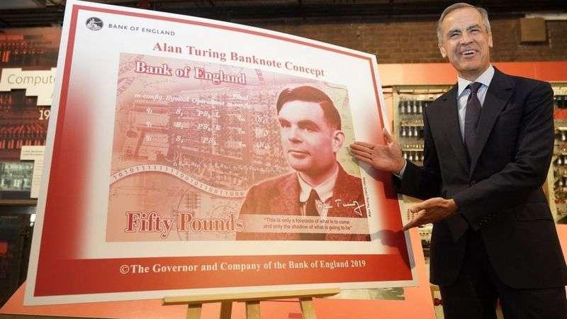 英格蘭銀行前行長卡尼表示:「圖靈是一個巨人,現在很多人都站在他的肩上。」(BBC News中文)
