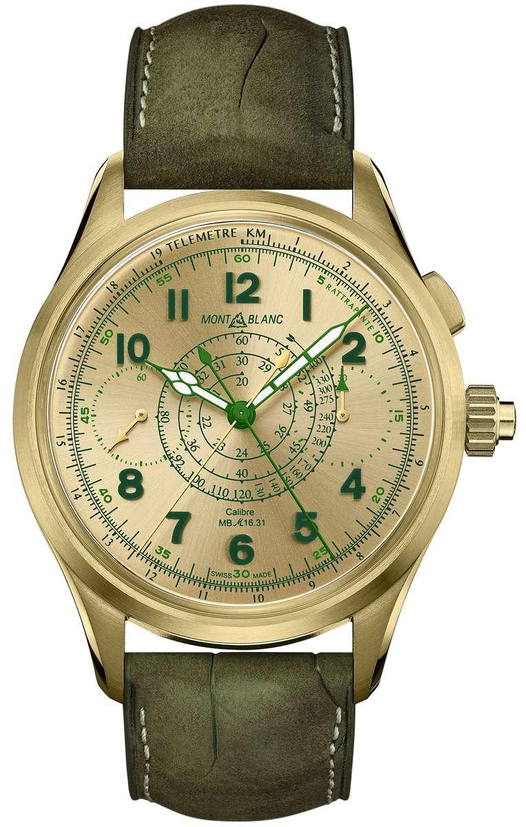 萬寶龍1858系列追針計時腕錶限量款18,約NT$1,477,000(圖/萬寶龍提供)