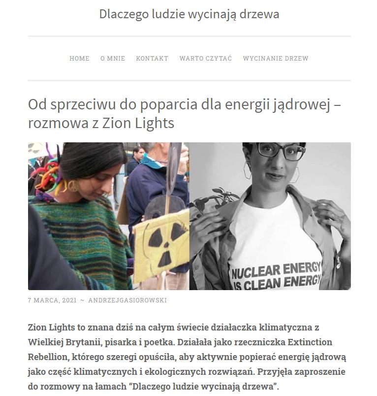 環境行動者Zion Lights如何從反核變成擁核。(作者提供,人們為何砍伐樹木報導)