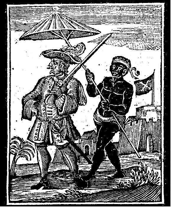 17世紀的「海盜王」、英國海盜埃弗里(Henry Every)與黑奴(Wikipedia / Public Domain)