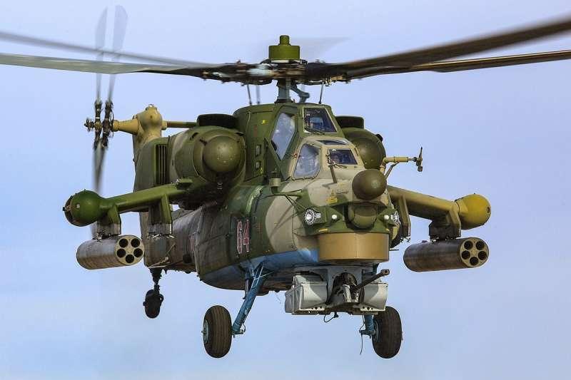 俄羅斯軍方的攻擊直昇機(俄羅斯國防部臉書)