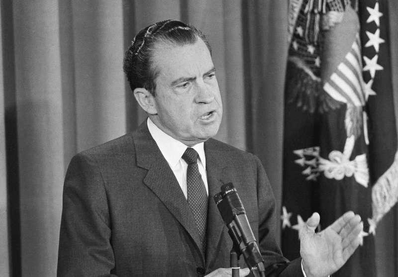 美國總統尼克森(Richard Nixon),攝於1963年1月27日(AP)