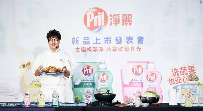 韓籍五星主廚孫榮Kai以親身經驗分享Pril淨麗小蘇打高效洗碗精的神級好用心得。(圖/Pril淨麗提供)