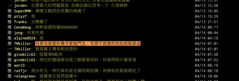 高鈺婷在政壇上的消失,引發了許多鄉民的質疑。(圖/截圖自PTT)