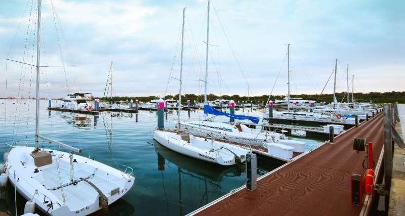 圖二:市政新灣區最大亮點「安平國際遊艇城」。(圖/興富發提供)