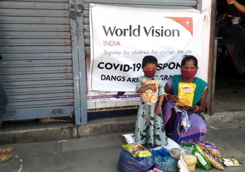 印度Covid-19疫情正嚴重失控,許多家庭急需救助。(圖/台灣世界展望會提供)