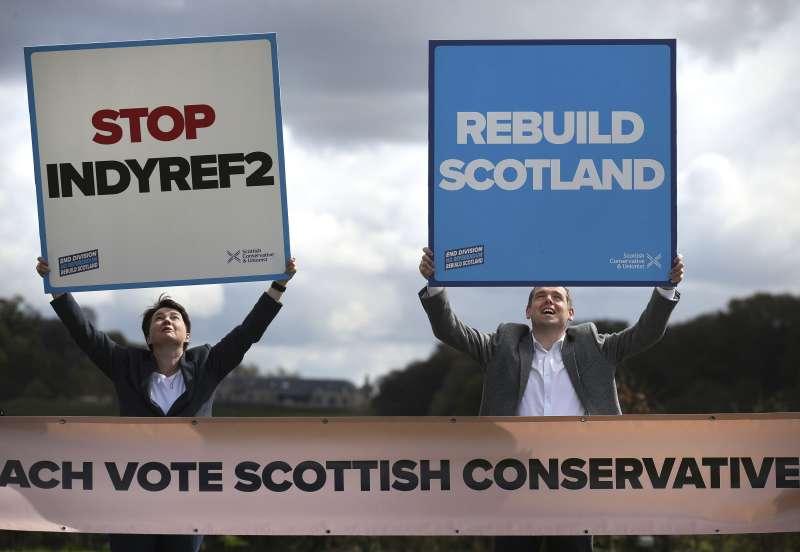 2021年5月,蘇格蘭議會選舉,各方關切蘇格蘭獨立議題,保守黨反對再次進行獨立公投(AP)