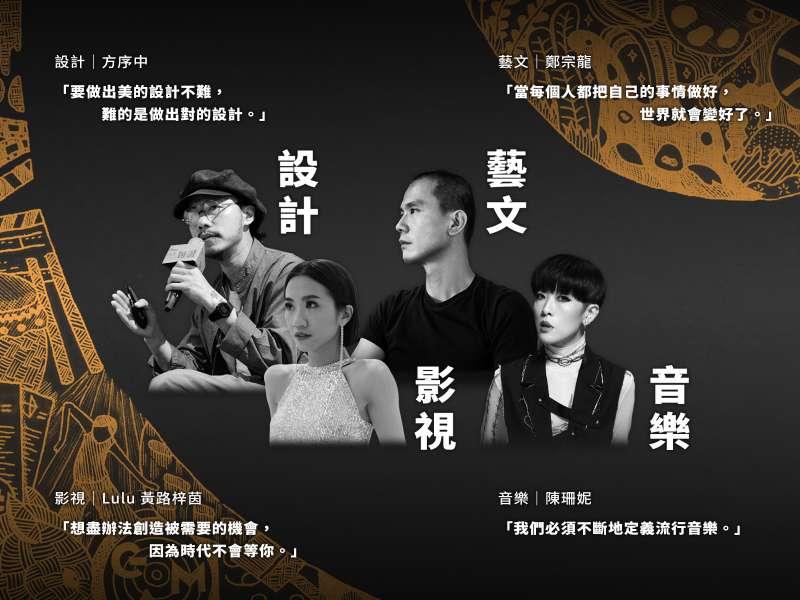 《臺北文創名家觀點》收錄設計、藝文、影視、音樂四大文創領域名家深度專訪。(圖/臺北文創)