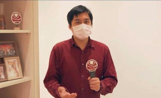 20210525-眼球中央寫手林瑋豐在PTT發表「再不承認九二共識啊」等荒謬言論,事後為相關反串言論致歉。(取自颱風眼IG)