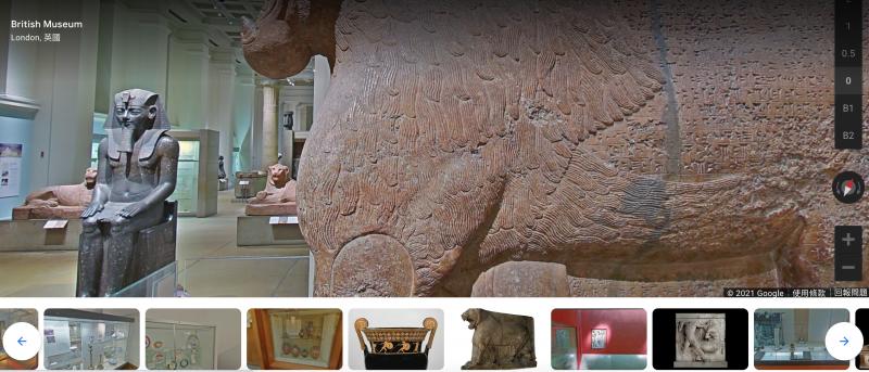 Google Arts&Culture 瀏覽大英美術館(擷圖自Google Arts&Culture)