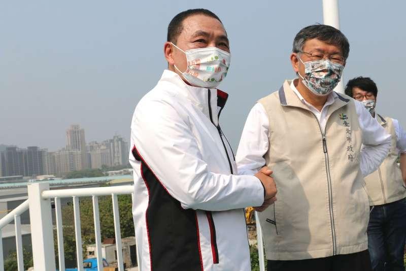 新北市長侯友宜表示,市民期盼疫苗快點進來;台北市長柯文哲說,請中央協助盡快購入疫苗,少政治操作及意識形態。(圖/李梅瑛攝)