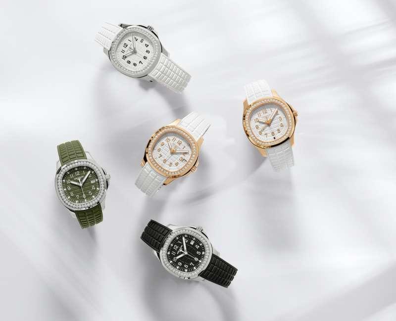 2021新款 Aquanaut Luce 新款腕錶,首度加入雙時區顯示,更大的錶身也是一大特點(圖 / 百達翡麗提供)