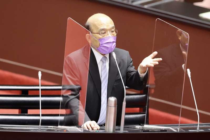 20210608-行政院長蘇貞昌8日於立院備詢。(台北市攝影記者聯誼會提供)