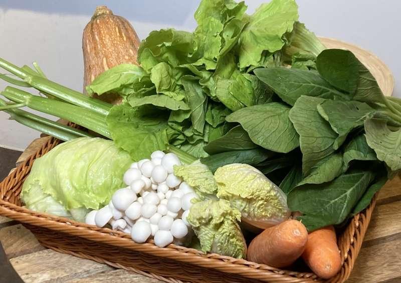 活力蔬菜箱,箱內蔬菜實拍畫面(攝影 / 陳鈞煥)