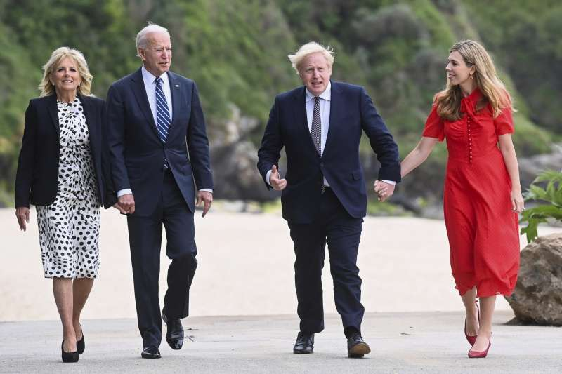 2021年G7峰會,美國拜登總統發起提議對抗中國戰略基建計劃。(AP)