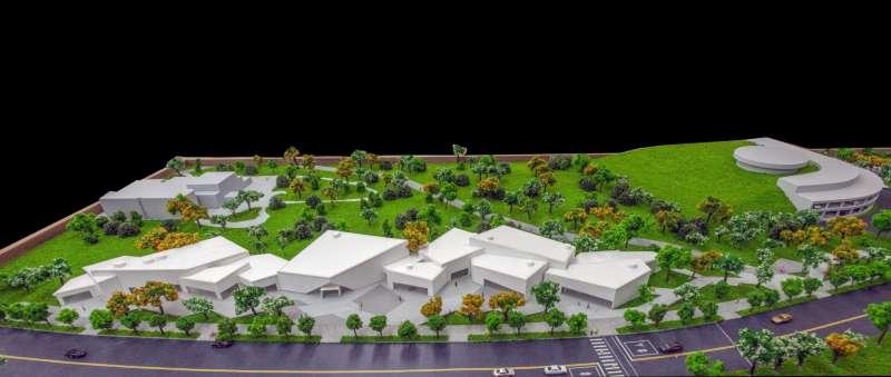「內惟藝術中心」即將啟動,翻轉城市美術館的未來想像。(模型圖由高美館提供)