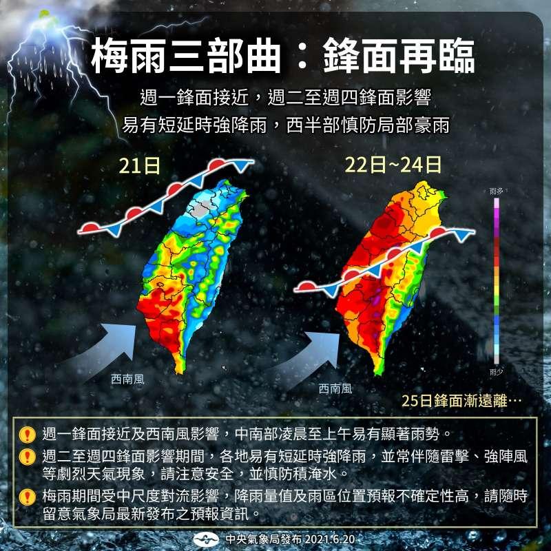 (圖/取自報天氣 - 中央氣象局臉書)