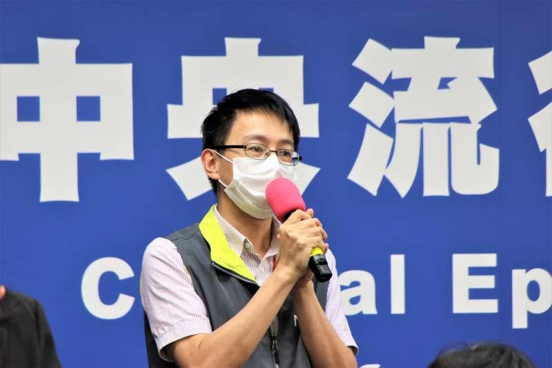 醫療應變組副組長羅一鈞29日出席中央流行疫情指揮中心記者會。(指揮中心提供)
