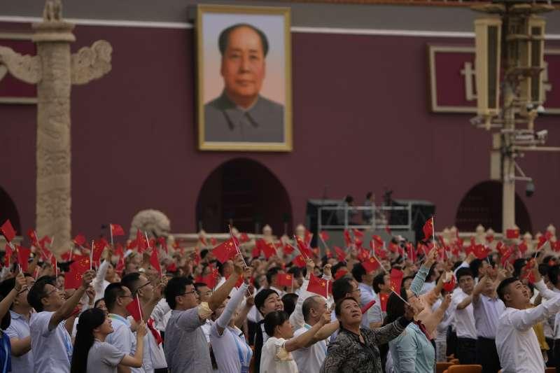 中共建黨百年。2021年7月1日,中國共產黨慶祝成立100周年(AP)