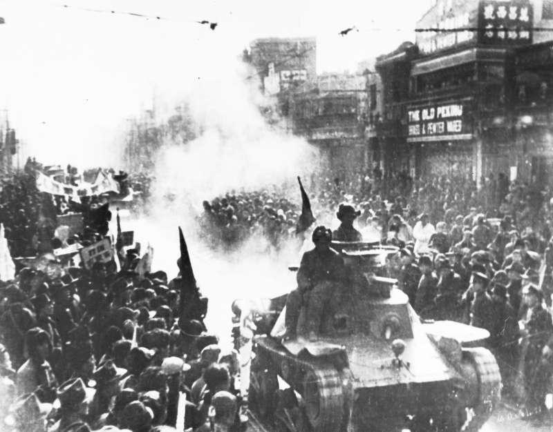 1949年5月2日,國共內戰末期,解放軍進入北京(AP)