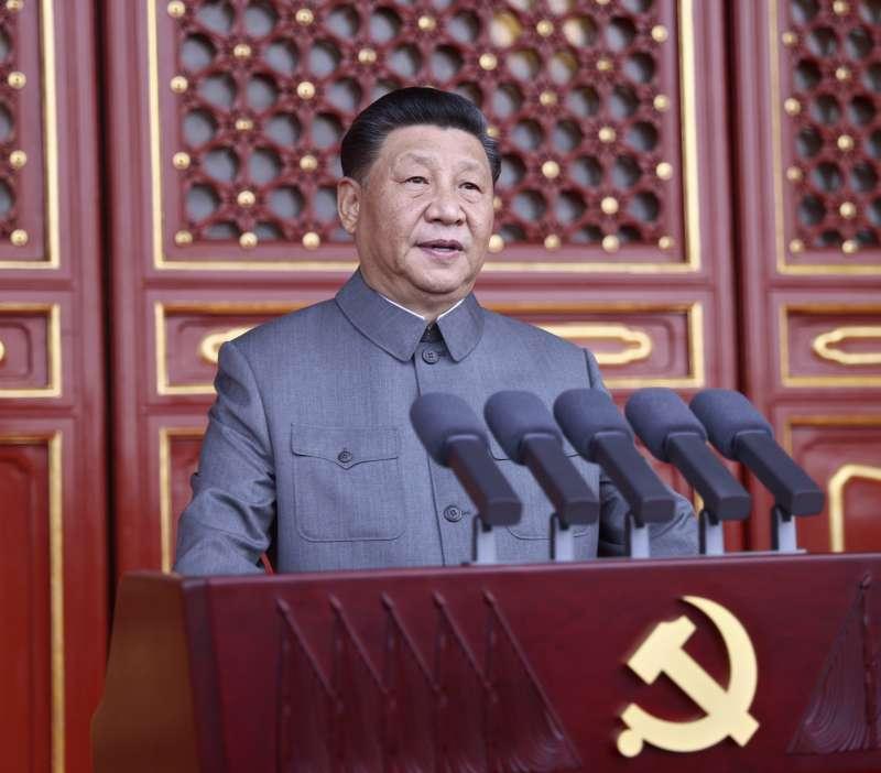 中共建黨百年。2021年7月1日,中國共產黨慶祝成立100周年,習近平主持慶祝大會(AP)