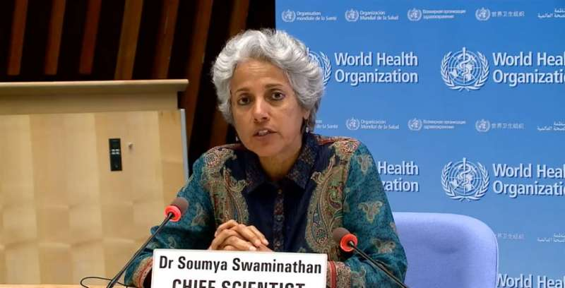 WHO首席科學家斯瓦米納坦昨(12)日建議,不要將不同廠牌的COVID-19疫苗混合施打。(圖/取自facebook.com/WHO)