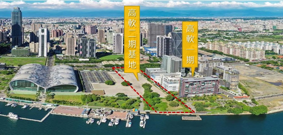高軟二期基地緊鄰高軟一期北側緊鄰輕軌、捷運紅線交通便利。(圖/高雄市經發局提供)