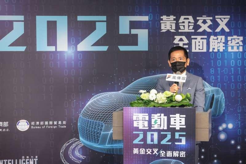 20210716-風傳媒社長王學呈16日出席主持「電動車2025」線上論壇。(顏麟宇攝)