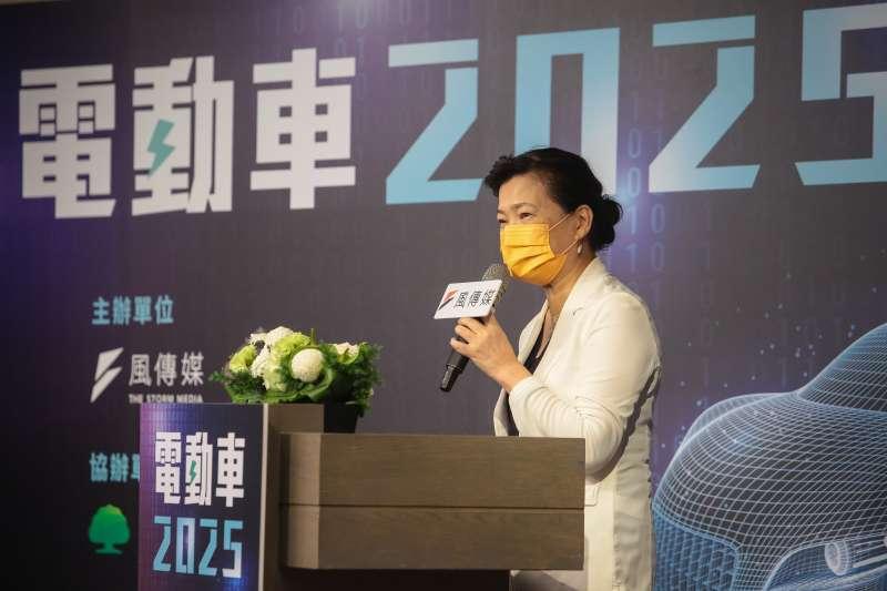 20210716-經濟部長王美花16日出席風傳媒舉辦「電動車2025」線上論壇。(顏麟宇攝)