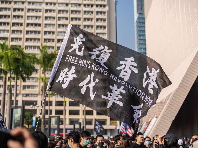 「光復香港,時代革命」,反送中,反國安法(Studio Incendo@維基百科 CC BY 2.0)