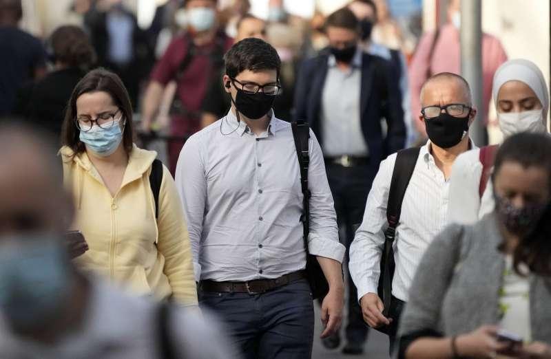2021年7月,新冠肺炎疫情,英國即將解封,影響全球關注。(AP)