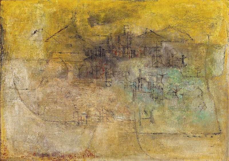 趙無極《風景》,屬藝術家早期「克利時期」風格代表作,以新台幣高達 8,096 萬元成交(圖 / Ravenel 提供)