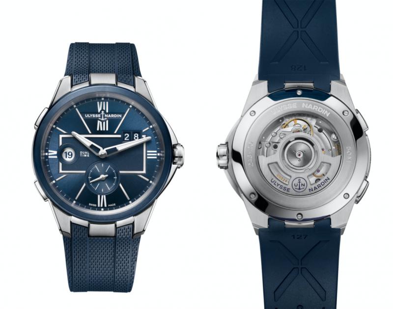 搭配擁有獨立編號的藍寶石水晶玻璃錶背(圖 / Ulysse Nardin 提供)