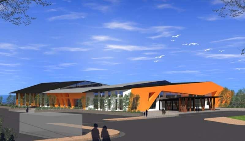 新旅客中心完工示意圖。(圖/高雄港務公司提供)