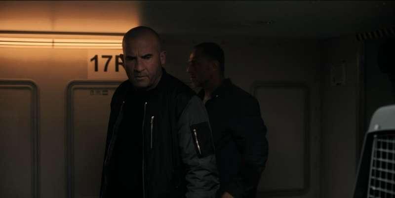 在經典美劇《逃》(Prison Break)中飾演Lincoln Burrows的Dominic Purcell亦有在電影中客串。(圖/香港01提供)