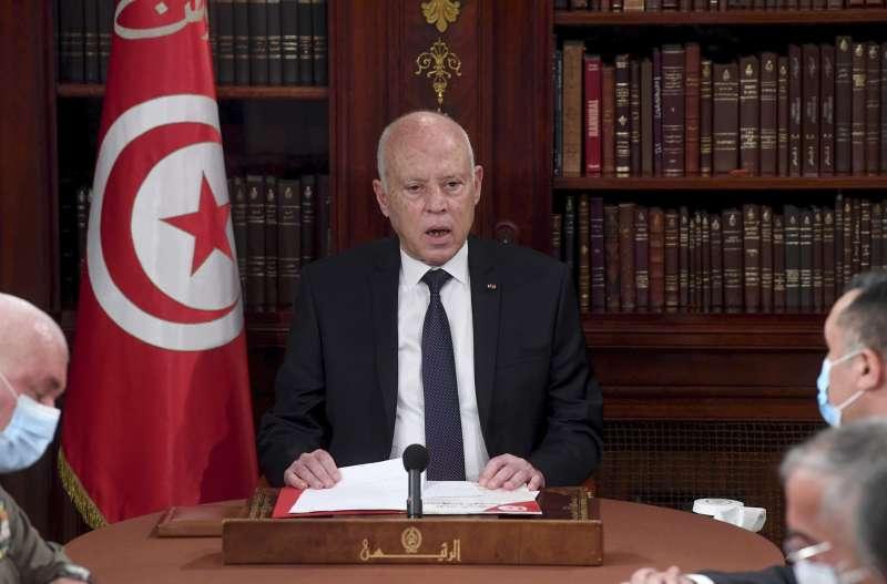 北非的突尼西亞總統薩伊德(Kais Saied)(AP)